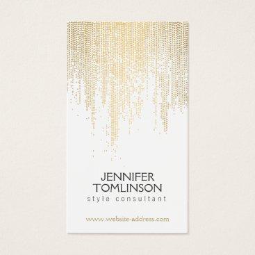 1201am Elegant Faux Gold Confetti Dots Pattern Business Card