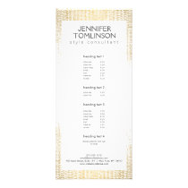 Elegant Faux Gold Confetti Dots Pattern Rack Card