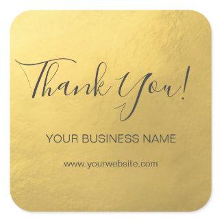 Elegant Faux Gold Foil Business Thank You Labels