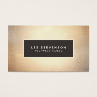 Elegant Faux Gold Foil Luxurious Vintage Business Card