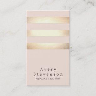 Pink business cards templates zazzle elegant faux gold foil striped modern light pink business card colourmoves