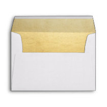 Elegant Faux Gold Foil Wedding Return Address Envelope