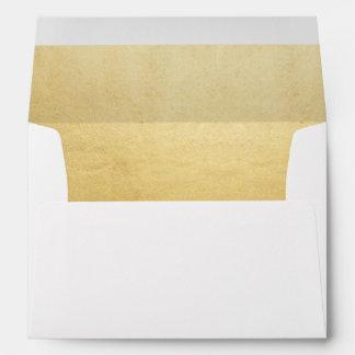 Elegant Faux Gold Foil Wedding Return Address Envelope