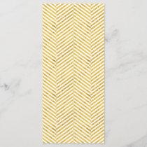 Elegant Faux Gold Foil White Stripes Pattern