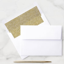 ELEGANT FAUX GOLD FREEHAND BRUSH STROKE PATTERN ENVELOPE LINER