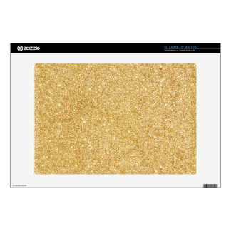 Elegant Faux Gold Glitter Laptop Decal
