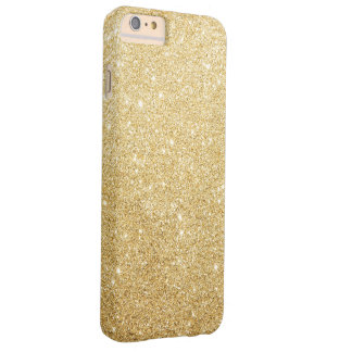 Elegant Faux Gold Glitter Luxury Barely There iPhone 6 Plus Case