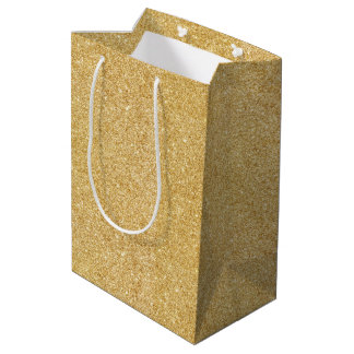 Gold Glitter Gift Bags | Zazzle