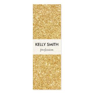 Elegant Faux Gold Glitter Mini Business Card