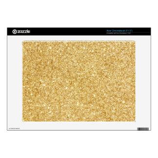 Elegant Faux Gold Glitter Skin For Acer Chromebook