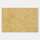 Elegant Faux Gold Glitter Yard Sign