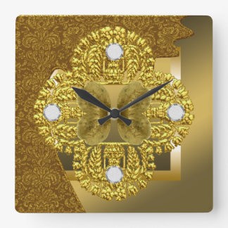 Elegant Faux Gold Lace Wall Clock