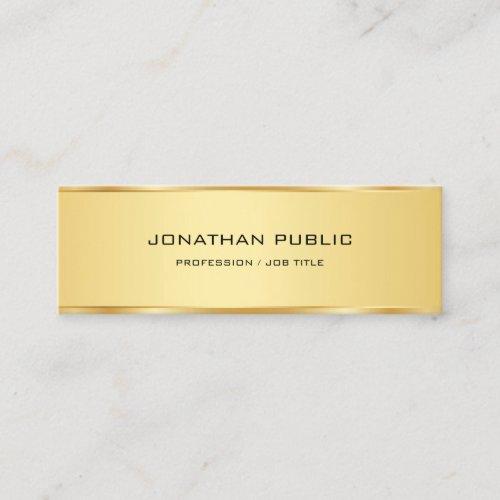 Elegant Faux Gold Minimalist Professional Template Mini Business Card