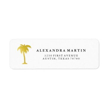 Beach Themed Elegant Faux Gold Pine Tree Label