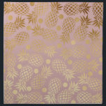 "elegant faux gold pineapple pattern polka dots cloth napkin<br><div class=""desc"">Stylish and trendy faux gold pineapple and polka dots pattern of a light dusty pink background.</div>"