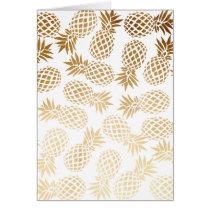 elegant faux gold tropical pineapple pattern