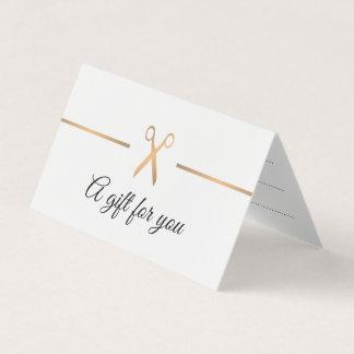 Elegant Faux Gold White Hair Gift Certificate