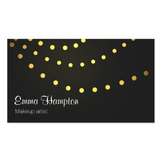 Elegant faux golden light strings dots cards Double-Sided standard business cards (Pack of 100)