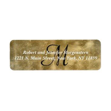 I_Invite_You Elegant Faux Golf Foil Monogram Address Labels