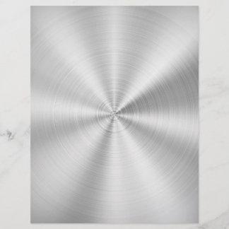 Elegant Faux Metallic Shiny Silver