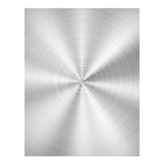 Elegant Faux Metallic Shiny Silver Letterhead