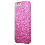 Elegant Faux Pink Glitter Luxury Barely There iPhone 6 Plus Case
