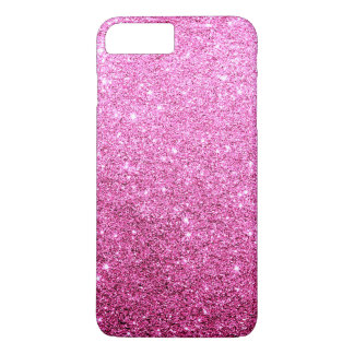 Elegant Faux Pink Glitter Luxury iPhone 7 Plus Case