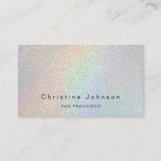 elegant faux rainbow glitter effect business card
