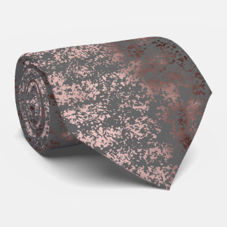elegant faux rose gold and grey brushstrokes tie