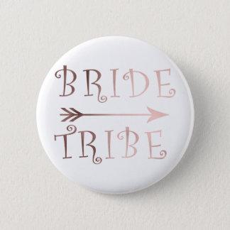 elegant faux rose gold bride tribe design pinback button