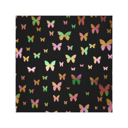elegant faux rose gold gold butterfly pattern canvas print