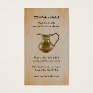 Elegant Faux Rusty Antique Dealer Pitcher Business Card