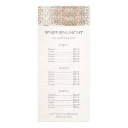 Elegant Faux Silver Sequins Salon Price List Menu
