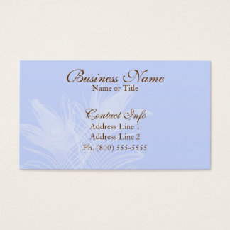 Elegant Feathers Business Cards
