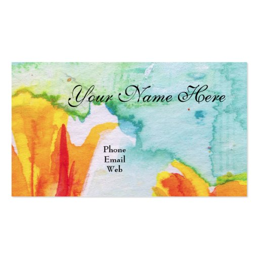 Elegant feminine artsy abstract business card zazzle for Artsy business cards