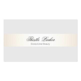 Elegant & Feminine Beauty Salon Satin Look Stripe Business Card