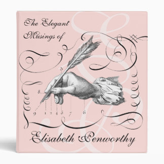 Elegant & Feminine Woman Writer's Notebook Binder