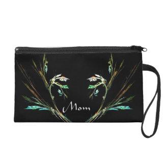 Elegant Fern Fractal Design Clutch Bag Mom