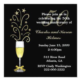 Elegant Festive Wedding Anniversary Invitation
