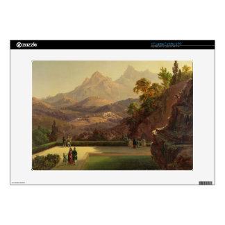 "Elegant Figures Conversing on a Terrace, Sintra, P 15"" Laptop Decals"