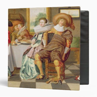 Elegant Figures Feasting at a Table 3 Ring Binders