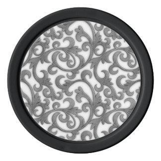 Elegant Filigree Poker Chip Set