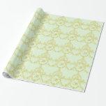 Elegant Filigree Rococo Monogram Wrapping Paper