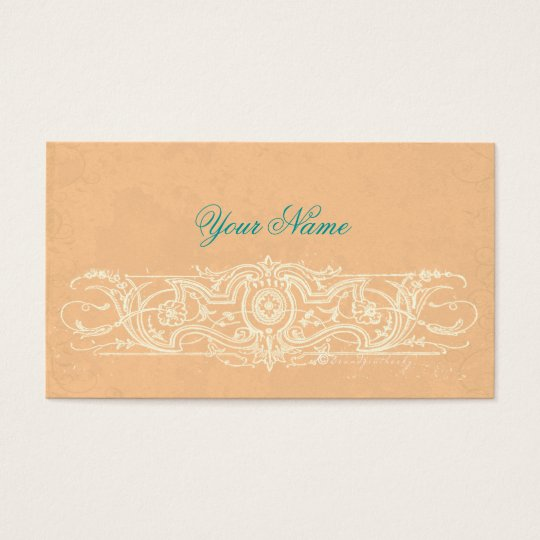 Elegant Filigree with Parchment Texture Business Card