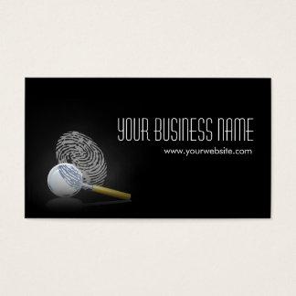 Elegant Fingerprint Detective Dark Business Card