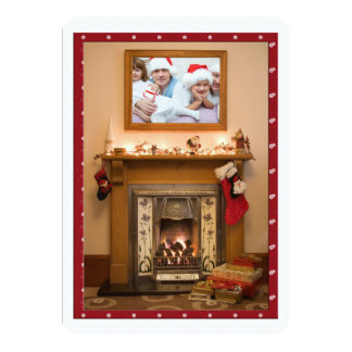 Elegant Fireplace Christmas Party / Family Reunion Card