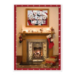 Elegant Fireplace Christmas Party / Family Reunion Personalized Invites
