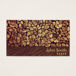 Elegant Firewood Baker Business Card