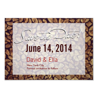 Elegant Firewood Save the Date Announcement