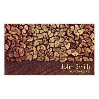 Elegant Firewood Songwriter Business Card